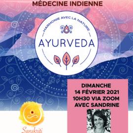 A la découverte de l'Ayurvéda – 14 février 2021