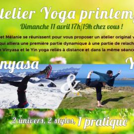 Atelier Vinyasa / Yin de printemps – 11 avril 2021